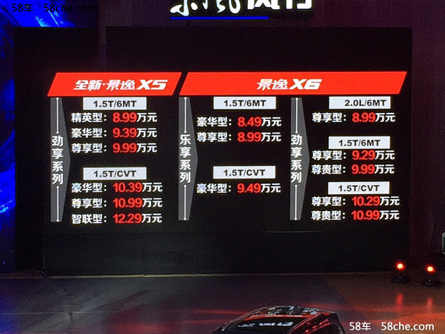 东风风行景逸X6上市 售价8.49-1.99万元
