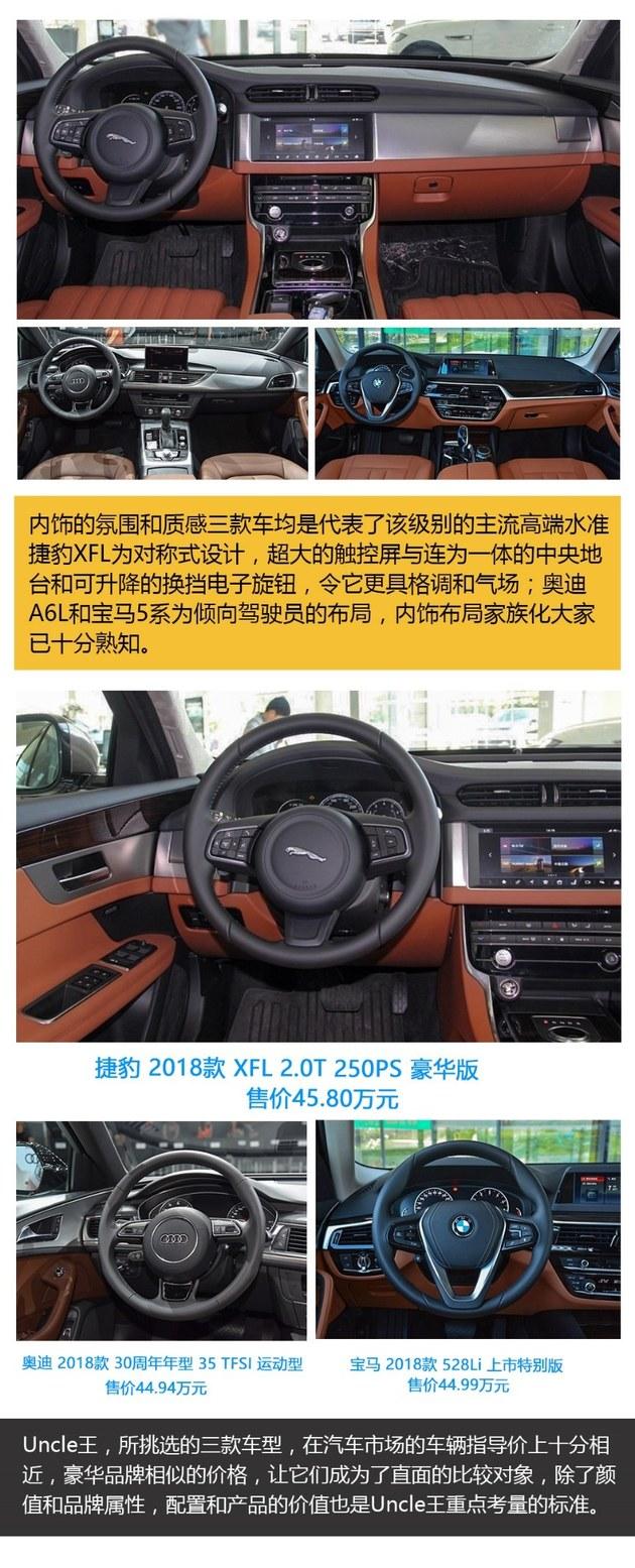 捷豹XFL奥迪A6L宝马5系 看Uncle王如何选?