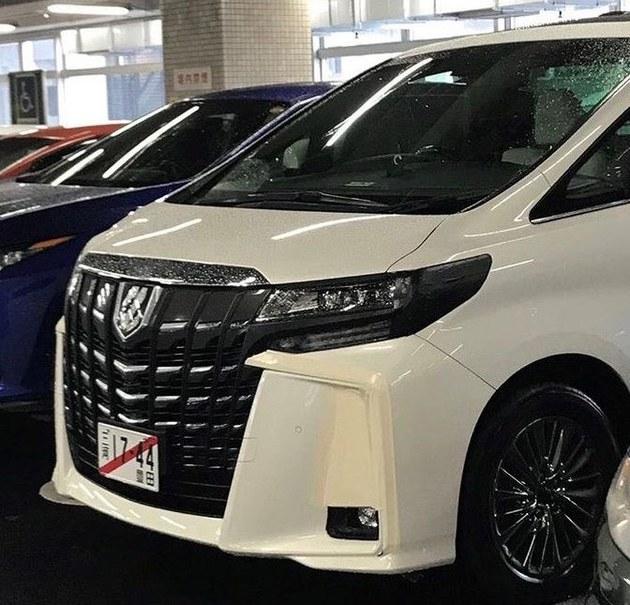 丰田新款埃尔法实车曝光 动力输出提升