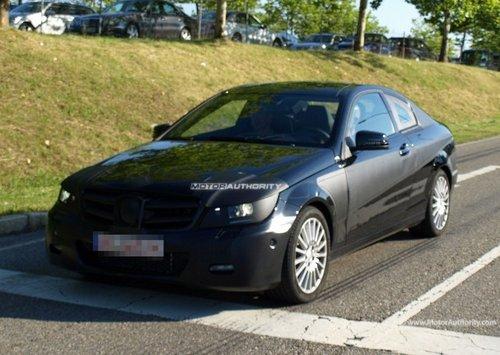 将于明年发布 新一代奔驰C级coupe谍照