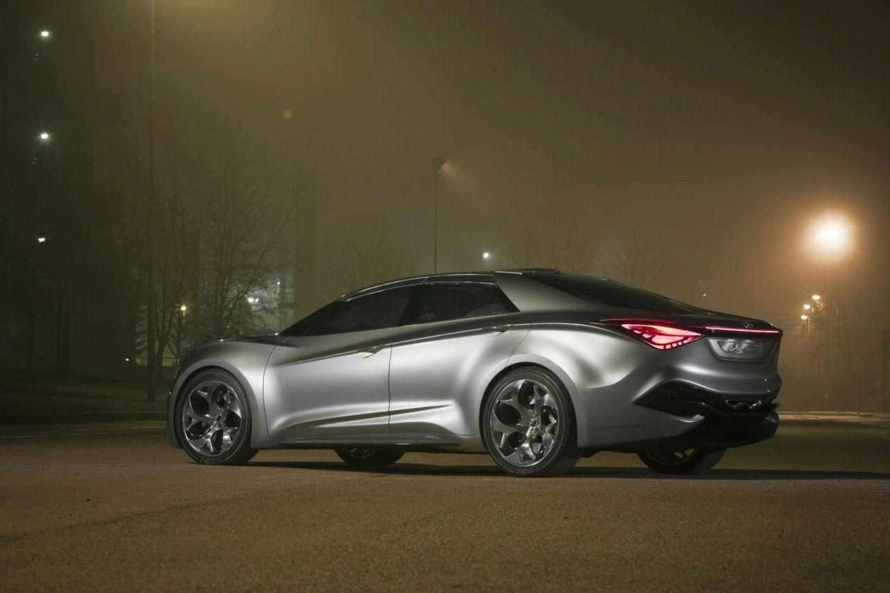 i flow概念车 赶时髦 现代将推出i40四门coupe轿跑车高清图片
