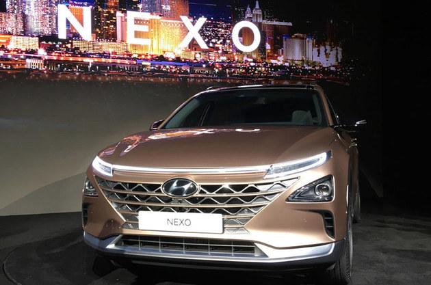 现代全新燃料电池车NEXO 2018CES展亮相