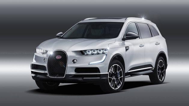 布加迪SUV车型渲染图 基于凯龙车型设计