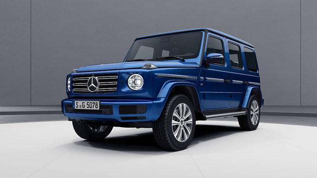 奔驰新款G级新套件官图 采用全蓝色涂装