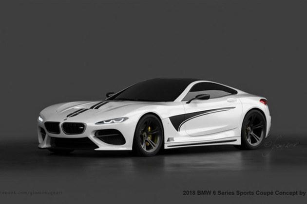 宝马全新6系Coupe假想图 搭4.4L发动机