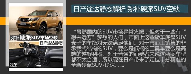 日产硬派SUV途达上市 售XX.XX-XX.XX万