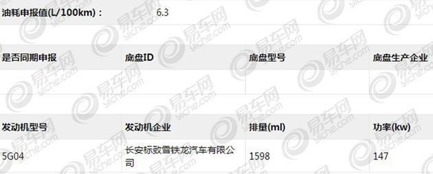 DS 5LS 45THP申报信息曝光 外观小改
