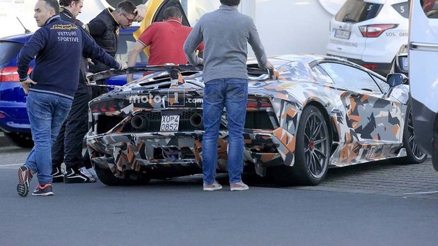 兰博基尼Aventador SVJ谍照 或年内发布