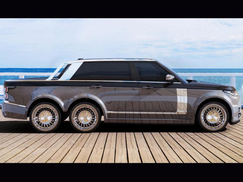 路虎6x6皮卡车型效果图