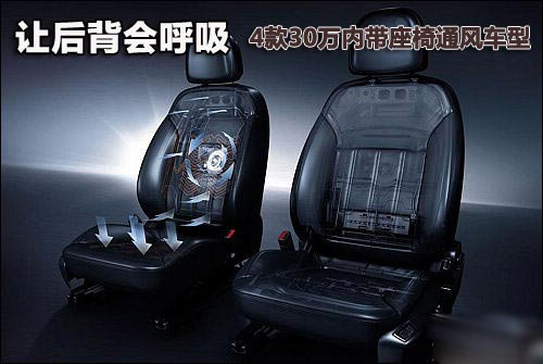 清凉夏日 4款30万内带座椅通风车型推荐