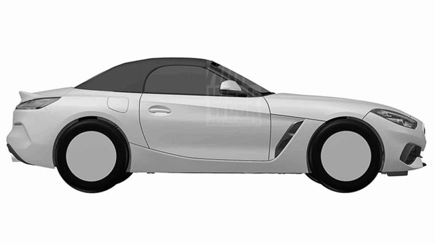 宝马全新Z4专利图曝光 将巴黎车展亮相