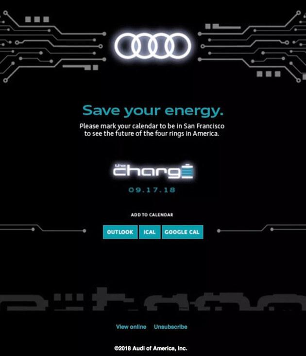 奥迪e-tron量产版推迟发布 或9月17亮相