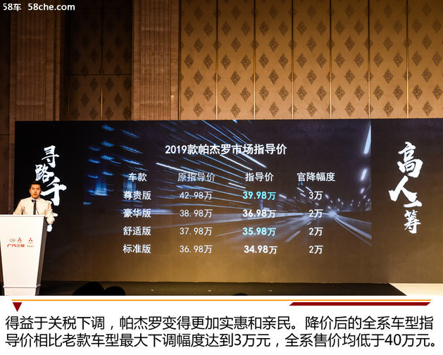 性价比再提升 2019款帕杰罗北京发布会