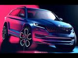 斯柯达柯迪亚克RS设计草图 巴黎车展亮相
