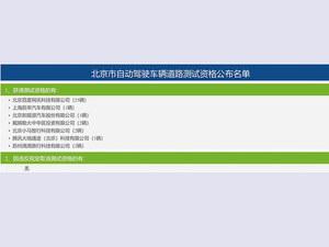 腾讯和滴滴获北京自动驾驶道路测试牌照