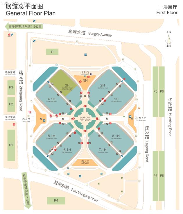 2019上海车展 丰田/本田等展台位置曝光