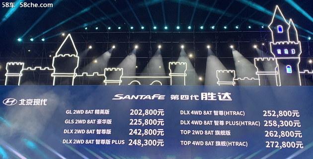 20.28万起售 北京现代第四代胜达正式上市