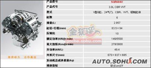 定位更加高端 瑞麒G6将配3.0L V6和5AT