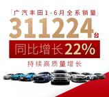 广丰1-6月销量持续增长,尽显产品实力
