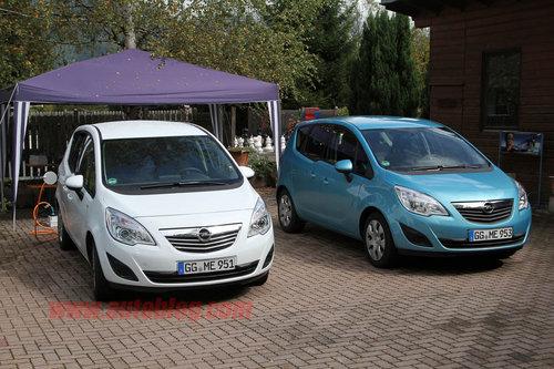 经济环保新MPV 欧宝Meriva电动版路试照