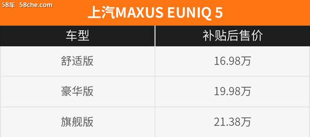 纯电MPV/续航350km 试上汽MAXUS EUNIQ 5