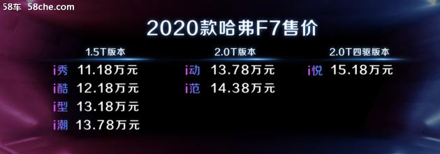 2020款哈弗F7  F5  F7X总有一款适合你
