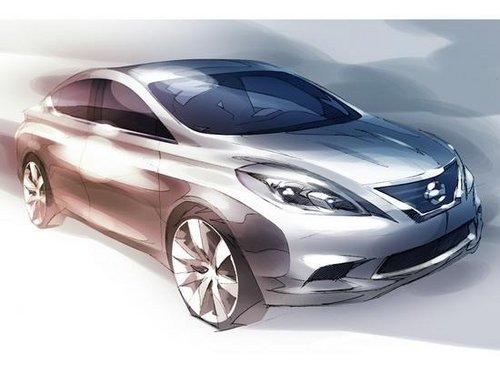 设计草图发布 日产新阳光广州车展首发