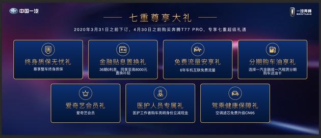 售10.58万起/5款车 奔腾T77 Pro正式上市