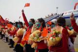 北京援鄂医疗队返京,北京越野接英雄回家