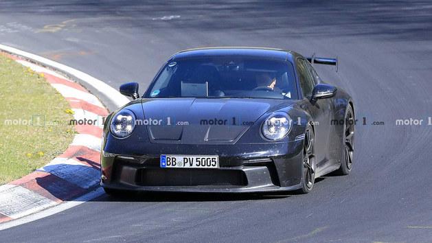 功率或超550马力 保时捷911 GT3谍照曝光