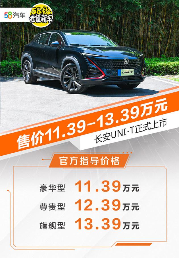 售价11.39-13.39万 长安UNI-T正式上市