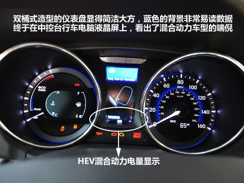只为环保而来!现代YF混合动力车型实拍