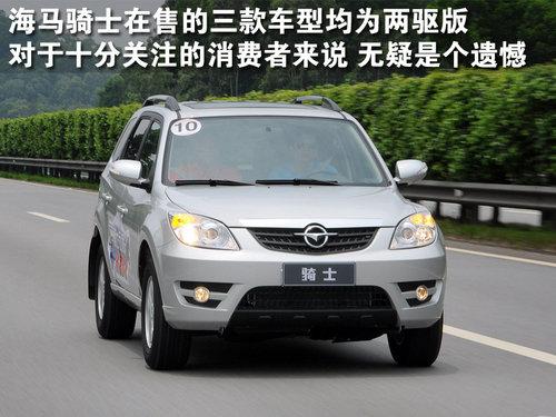 越野并非强项 仅提供两驱版SUV车型推荐