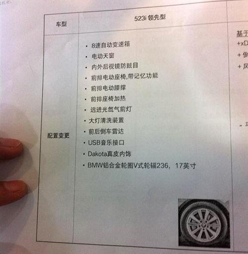 第二季度进口 宝马523i实车照国内曝光