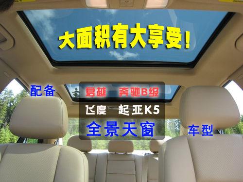 大面积有大享受!4款配备全景天窗车型