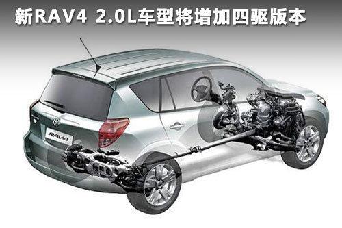 搭载CVT变速器 丰田新款RAV4于九月上市