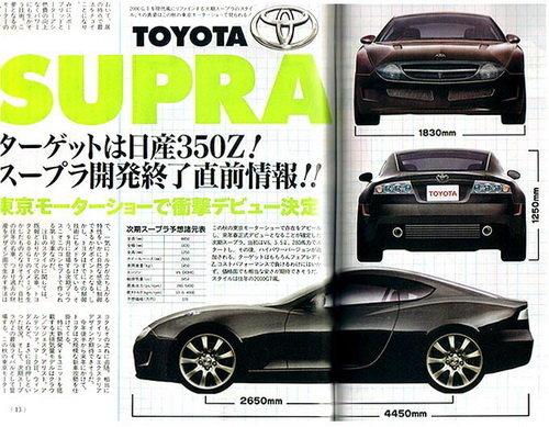 对手日产370Z 丰田将推出新一代Supra