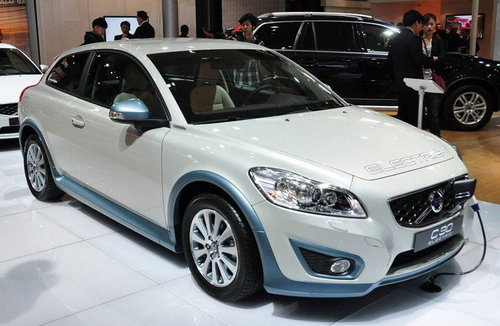2011上海车展 沃尔沃C30纯电动版亮相