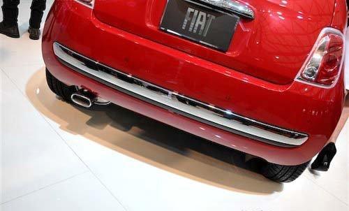 大号时尚的玩具 菲亚特500上海车展实拍