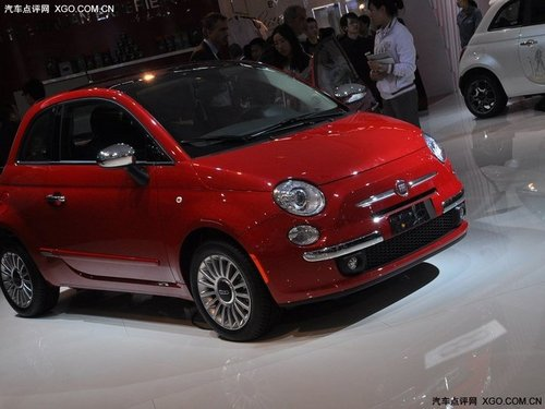 2011上海车展 全系菲亚特500车展亮相