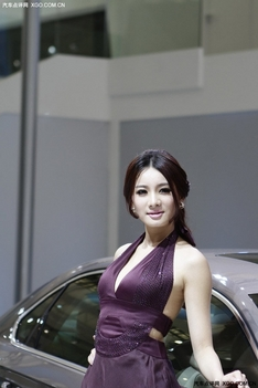 大众展台车模付曼妮列表_香车美女