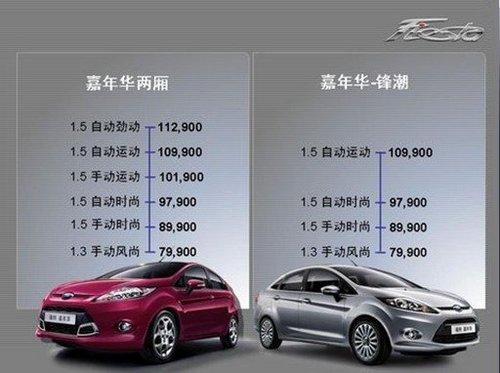 将推出9款车型 2011款嘉年华今日上市