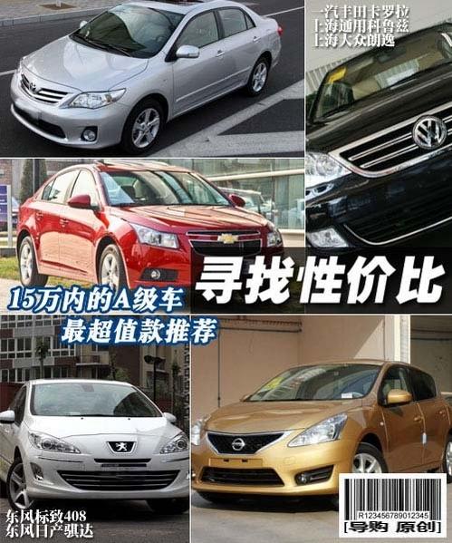 寻找性价比 15万内紧凑车最超值款推荐