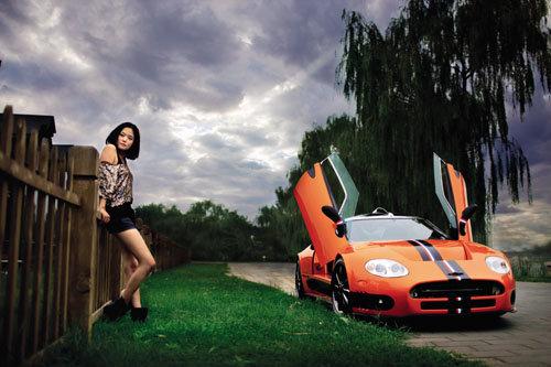 炫丽橙色之魅惑 试世爵C8 Laviolette