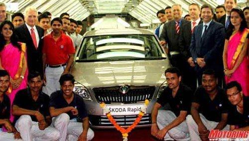 预计2013年国产 斯柯达RAPID下线投产