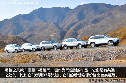 同级中的差距 五款热门城市SUV对比测试