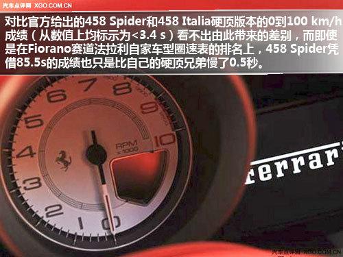 一车两世界 车展实拍法拉利458 Spider