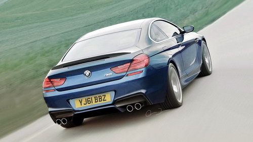 拟用4.4升V8发动机 BMW2013款M6假想图