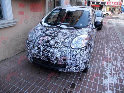 于2012年底上市 新一代奇瑞QQ谍照曝光