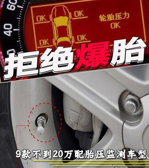 拒绝爆胎 9款6万起配胎压监测车型推荐